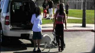 Mel B. picks up her children from a day at the park with the nanny.