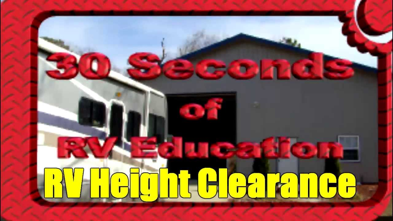 RV Height Clearance Tips