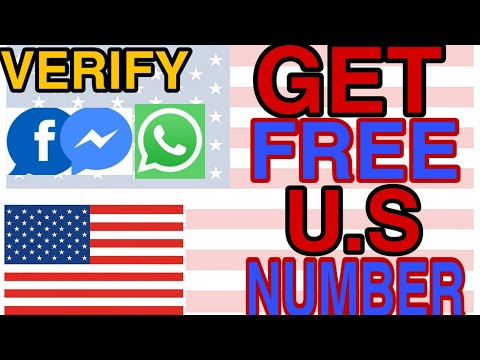 HOW TO GET FREE U.S/CANADA NUMBER TO VERIFY WHATSAPP/FACEBOOK/MESSENGER UNDER 5MINS -2020 TRICK