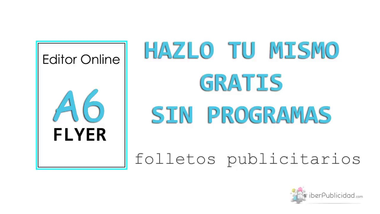 hacer flyers publicitarios online gratis