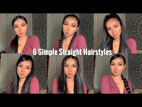 6-simple-quick-&-easy-hairstyles💛|-long-hair