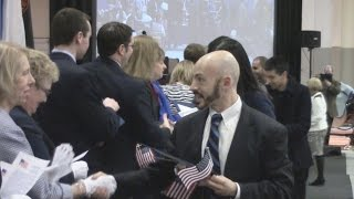 Naturalization ceremony at University of Findlay