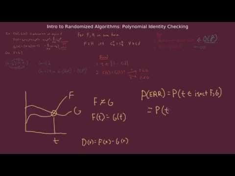 Randomized versus Deterministic Algorithm for a Simple Algebra Problem