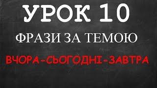 Англійські фрази: Урок 10 (Вчора-сьогодні-завтра)