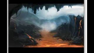 Drawing from your mind concept art tutorial environment magma river