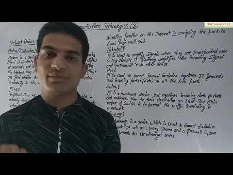 Communication Technologies Class 12 CS Chapter 14 (Video 3)