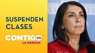 Suspenden clases en 43 comunas de la Región Metropolitana - Contigo en La Mañana