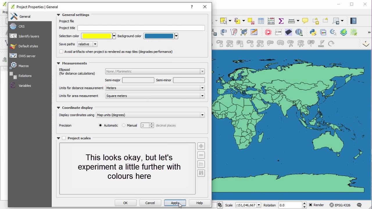 Change the background colour in qgis youtube change the background colour in qgis gumiabroncs Image collections