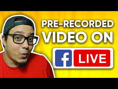 How To Schedule Pre-Recorded Video On Facebook Live 📽️