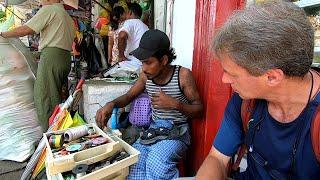 Streetside Repairs in Yangon