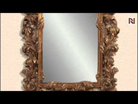 Antique Gold Finish W/Distressing - Shaped Mirrors by Bassett Mirror ...