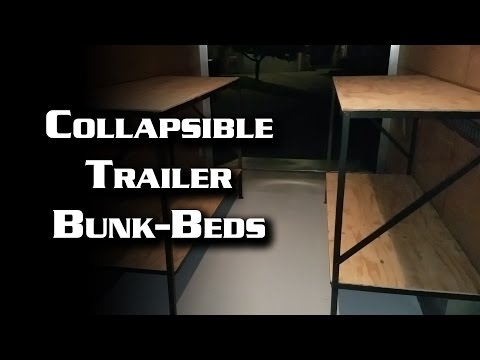 Collapsible Trailer Bunk Beds