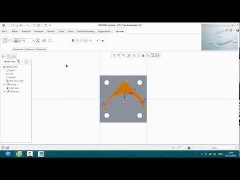 Hướng dẫn vẽ creo 3.0 : Bài tập 1