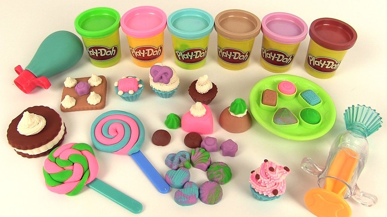 play doh p te modeler bonbons sucreries g teaux sweet shoppe colorful candy box youtube. Black Bedroom Furniture Sets. Home Design Ideas