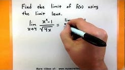 Calculus - The laws of limits