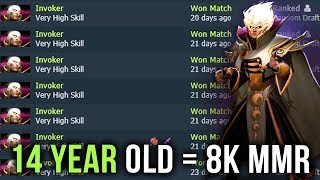 14-Year-Old Kid = 8000 MMR Destroying TI Winner - Crazy Invoker Spammer - EPIC Gameplay Dota 2