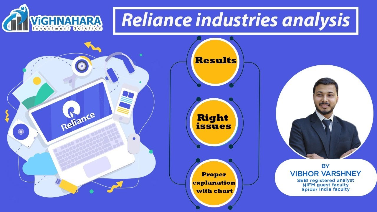 reliance industries - result analysis, right issues and chart explanation