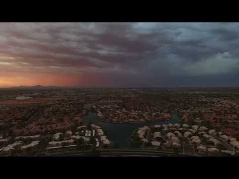 Drone flight 153, Monsoon and  formation of a Haboob, Chandler AZ