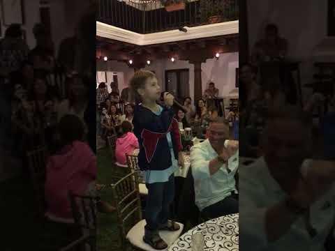 Luka singing Karaoke