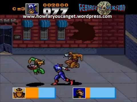 Snes Captain America And The Avengers How Far You Can Get Gebirge S Version