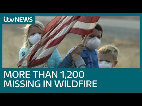 California wildfire missing count reaches more than 1,200 people  | ITV News