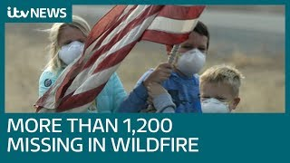 California wildfire missing count reaches more than 1,200 people    ITV News