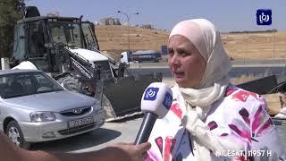 أعمال حفريات على طريق المطار تقطع المياه عن مرج الحمام  (28/8/2019)