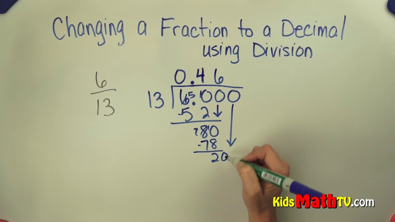 medium resolution of How to convert fractions to decimals 5th