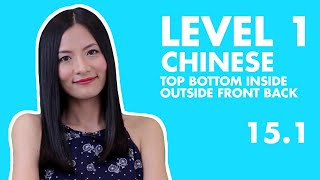 Learn Chinese for Beginners  On, Under, Inside, Outside, In Front Of, and Behind in Chinese 15.1