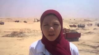 فرحة طلاب مصر فى مواقع الحفربقناة السويس الجديدة أغسطس 2014