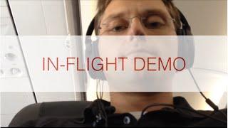 Bose Quietcomfort 25 (QC 25) IN-FLIGHT DEMO (plus battery life description)