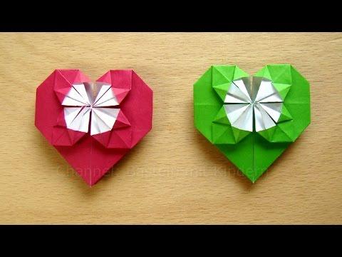 herz basteln geschenk basteln basteln ideen diy origami herzen falten geschenkideen youtube. Black Bedroom Furniture Sets. Home Design Ideas