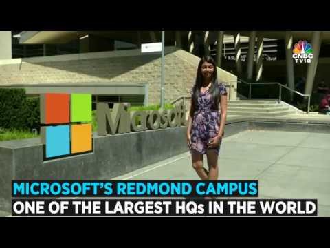 Inside Microsoft's Campus in Redmond, WA | CNBC TV18