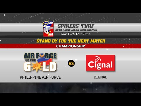 July21: Spikers' Turf 2019 Reinforced Conference Finals Game02: CIGNAL HD SPIKERS Vs PHIL. AIR FORCE