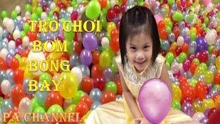 Bé chơi trò bơm bóng bay | Bơm bong bóng | Đồ chơi trẻ em | PA channel