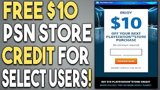 FREE $10 PSN Store Credit for Select Users! CHECK YOUR EMAILS!