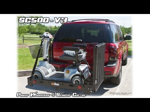 SC500-V3 - Folding Power Wheelchair & Scooter Carrier -  Ass