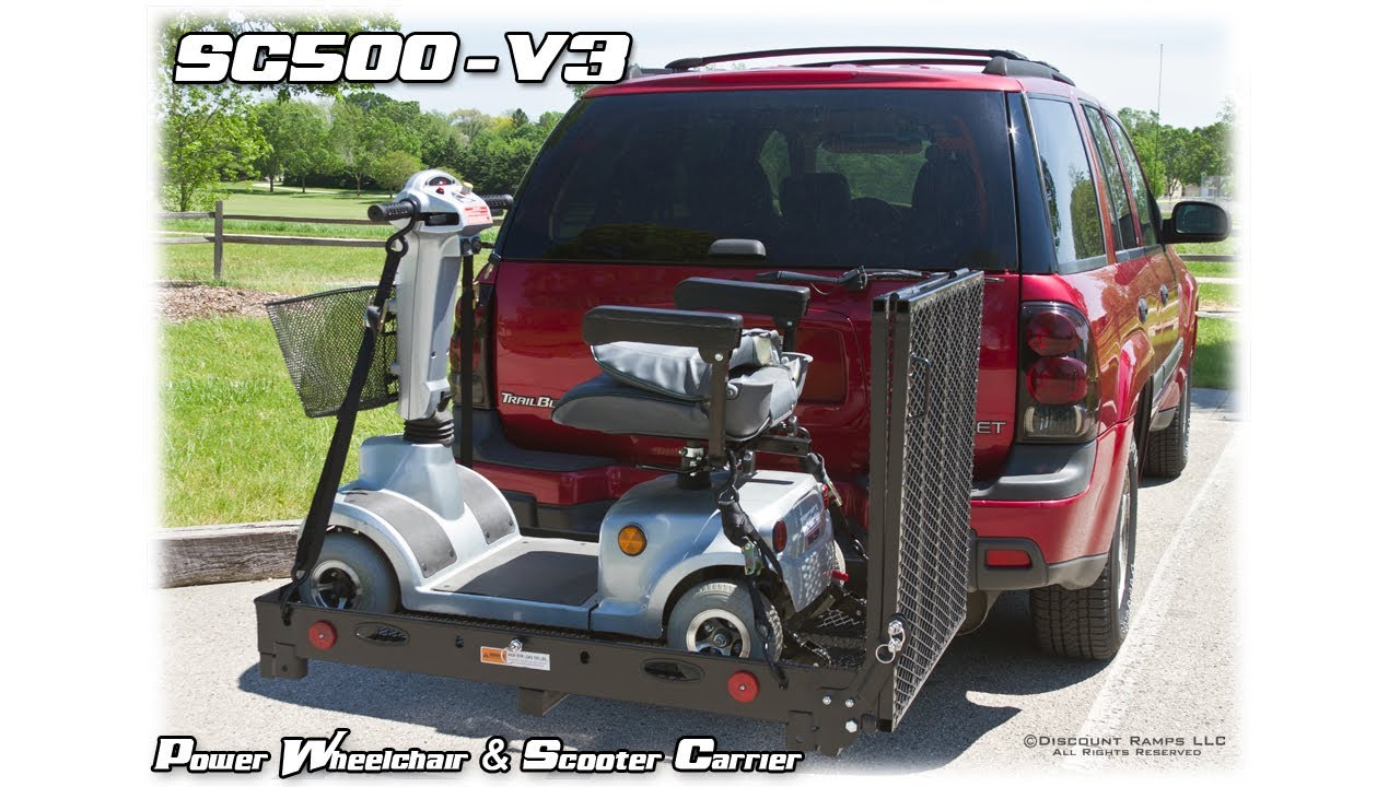 sc500 v3 folding power wheelchair scooter carrier assembly installation