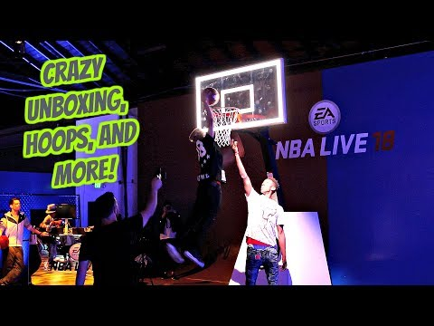 I'M IN A NBA VIDEO GAME! - NBA LIVE 18 EVENT - CRAZY UNBOXING AND DUNK!