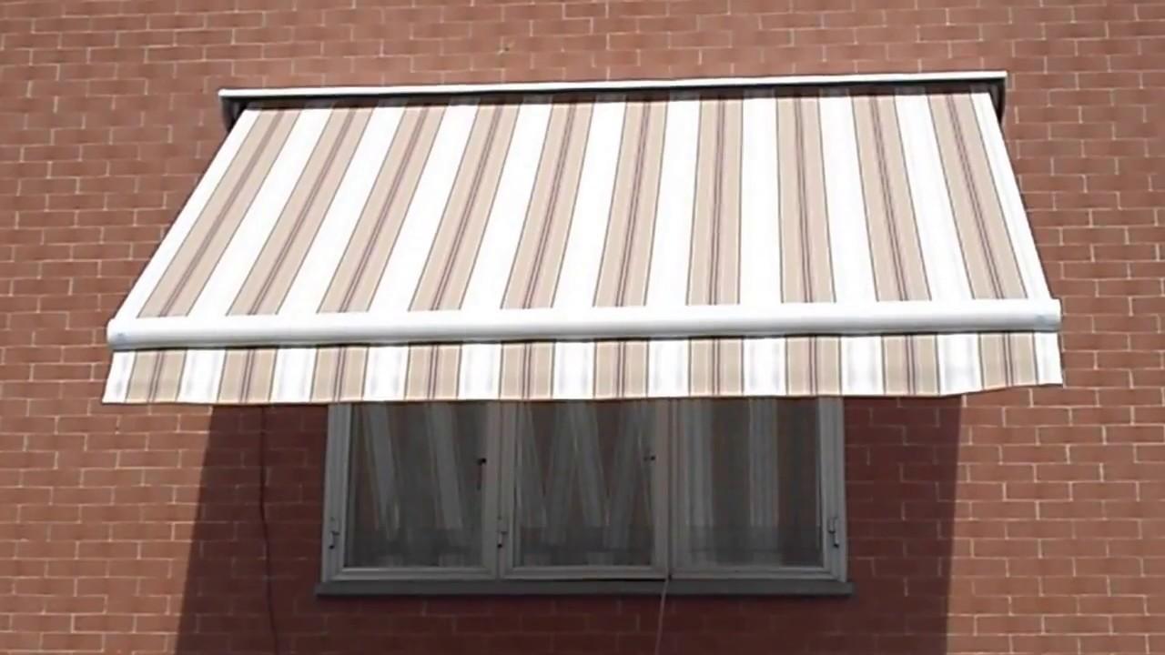 Tenda da sole a bracci estensibili su barra quadra per finestra motorizzata somfy torino m f - Tenda per porta finestra ...