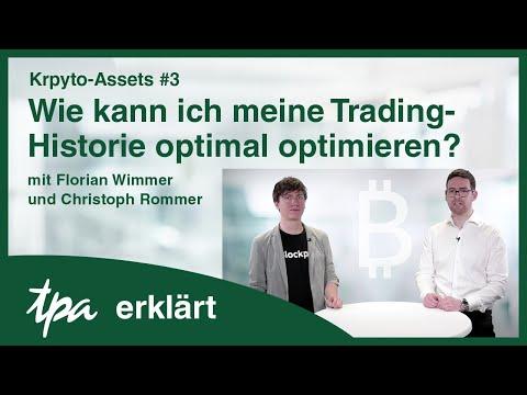 Krypto-Assets #3: Wie kann ich meine Trading-Historie optimal optimieren? TPA erklärt-Videos