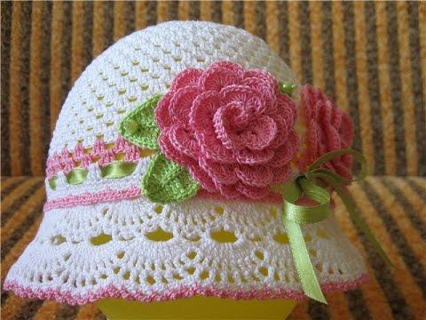 летние детские шляпы крючком Summer Crocheted Baby Hats
