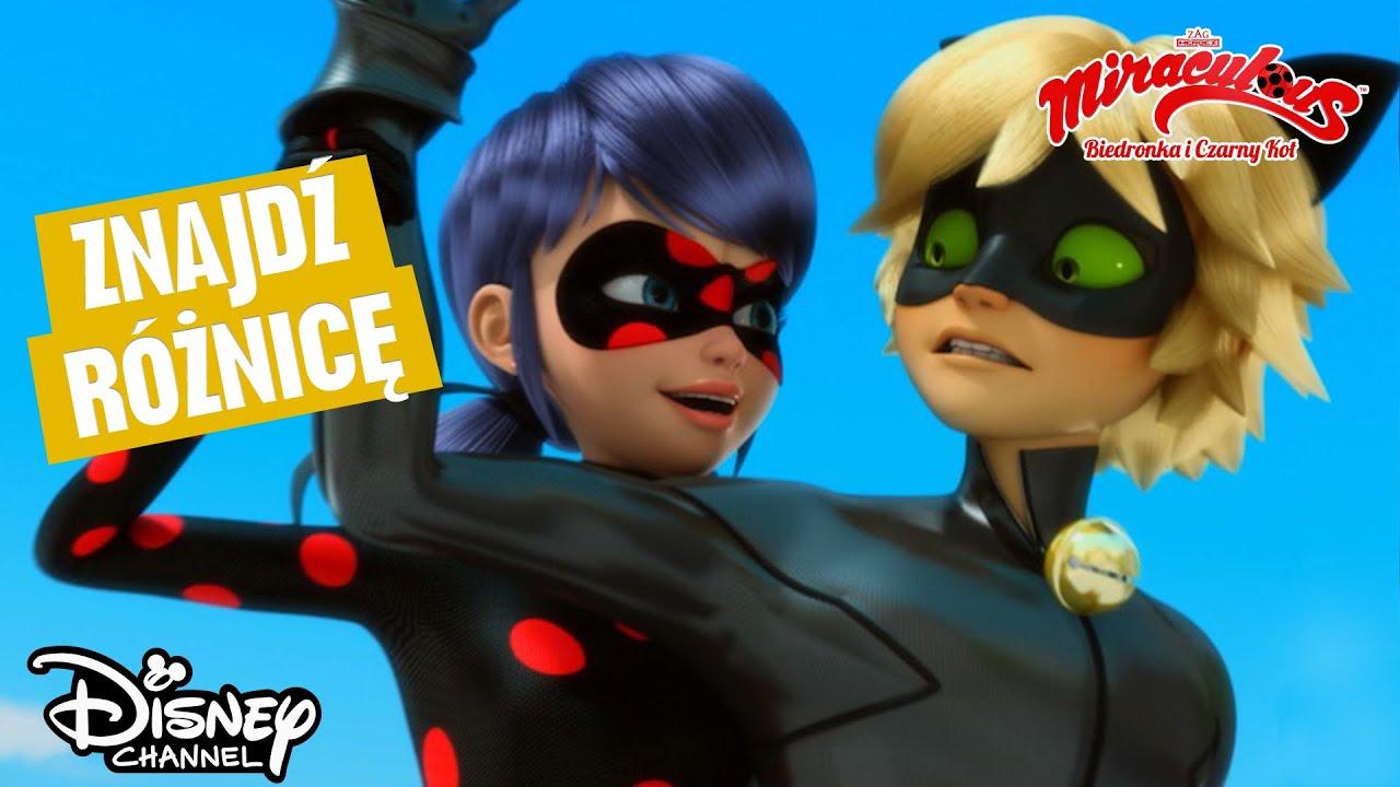 ???? Znajdź różnicę | Miraculous: Biedronka i Czarny Kot | Disney Channel Polska