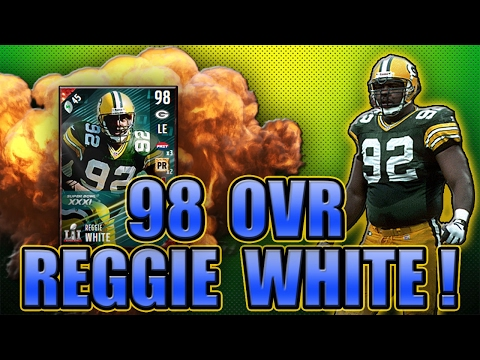 GOT 98 REGGIE WHITE! WHAT A PLAY BY OLSEN! - MADDEN NFL 17 ULTIMATE TEAM