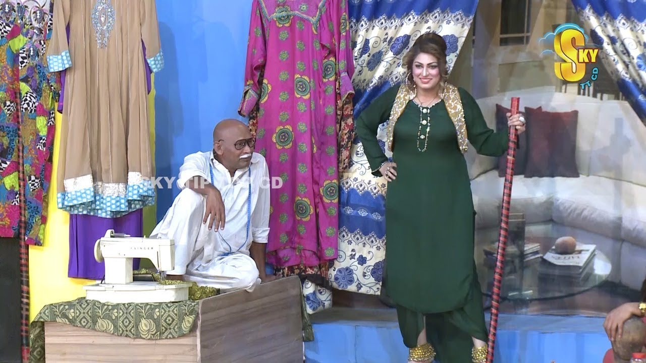 Akram Udas With Asha Choudhary and Tahir Noushad Stage Drama Sui Dhaaga New Comedy Clip 2019