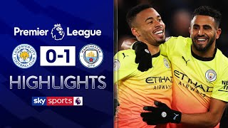 Gabriel Jesus scores shortly after Aguero's penalty miss | Leicester 0-1 Man City | EPL Highlights
