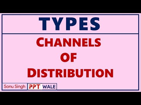 TYPES OF CHANNELS OF DISTRIBUTION IN HINDI | Marketing Management | BBA/MBA/Bcom | ppt