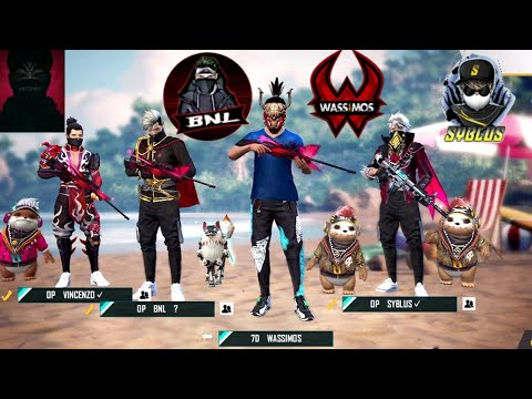FREE FIRE ENGLISH LIVE STREAM WITH VINCENZO BNL AND SYBLUS
