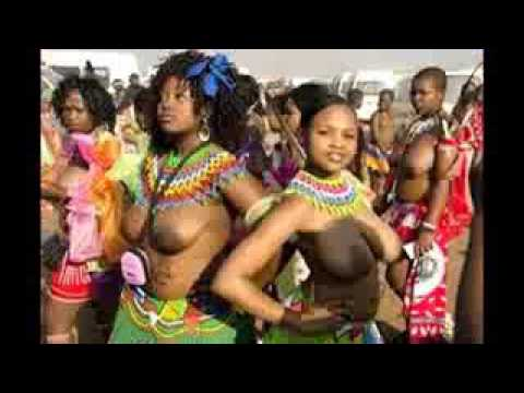 Funny Swaziland Reed Dance Ceremony  South Africa Zulu Dance    Video low