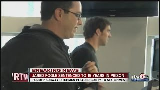 Jared Fogle sentenced to 15.6 years in prison